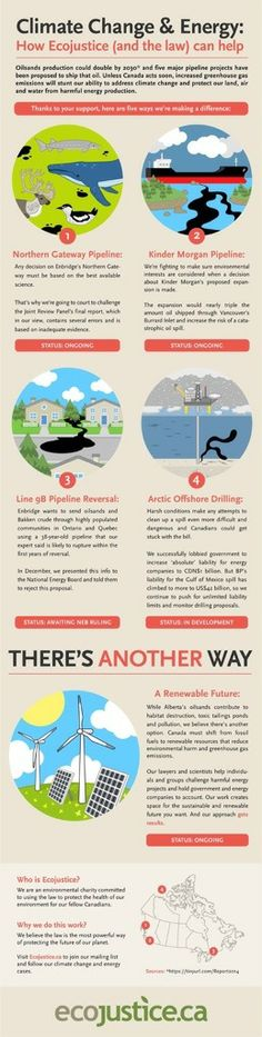 Climate Change & Energy: How Ecojustice (and the law) can help [Infographic] | ecogreenlove