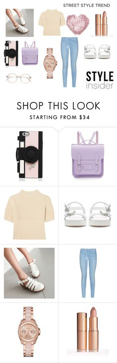 """""""LOTS OF PINK"""" by style-insid on Polyvore featuring Kate Spade, The Cambridge Satchel Company, Totême, Zara, 7 For All Mankind y MICHAEL Michael Kors"""