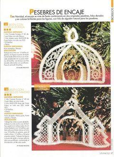 Mi Ultimo Trabajo De Bolillos | Aprender manualidades es facilisimo.com Christmas Nativity, Christmas Ornaments, Bobbin Lacemaking, Lace Art, Bobbin Lace Patterns, Point Lace, Lace Jewelry, Lace Making, Filet Crochet