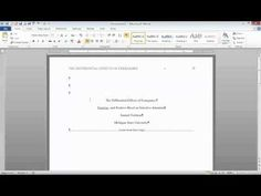 ▶ APA Format: Title Page, Running Head, and Section Headings - YouTube