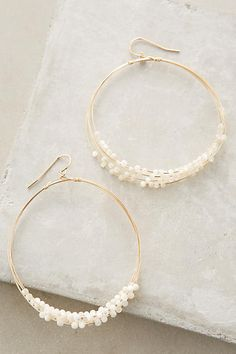 Mother-of-Pearl Hoops. Anthropologie inspiration