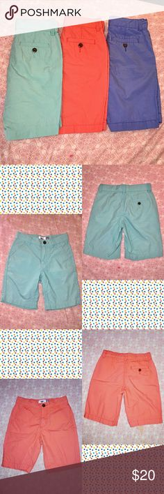 Boys Size 6 Short Bundle 《3 pairs of Old Navy shorts • Blue/teal/coral》 《Size 6 in boys》 ☆BUNDLE TO SAVE! GET 15% OFF WHEN YOU BUNDLE 2 OR MORE ITEMS FROM MY CLOSET. COMMENT IF YOU HAVE ANY QUESTIONS☆ Old Navy Bottoms Shorts