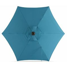 Garden Treasures Teal Market No-tilt Round Patio Umbrella with Dark Brown Steel Frame at Lowe's. Make your outdoors beautiful and comfortable with the Garden Treasures teal market umbrella. With a solid teal canopy, you can enjoy your patio Teal Fabric, Market Umbrella, The Gables, Patio Umbrellas, Studio City, Lowes Home Improvements, Color Names, Top View, Steel Frame