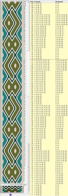 22 tarjetas hexagonales, 4 colores, repite cada 72 movimientos // sed_526_c6 diseñado en GTT༺❁