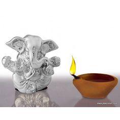 Silver Plated Small Size #Ganesha Idol