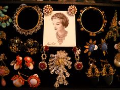 Assorted 1940s and 1950s Miriam Haskell pieces. She is known for her attention to detail, top of the line crystals and beads, and every piece is handmade!