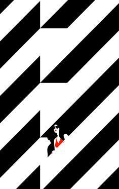 Mini screenprint from Hide and Seek by Malika Favre!
