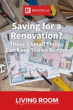 These five small things take a big bite out of your home renovation budget. 🔨🏡💸 Learn how to save during your next home improvement project on REALTOR.ca Living Room. Link in bio. . . . . #homerenovation #homeimprovement #budgeting
