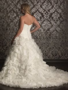 Sweetheart Ball Gown Allure Women Bridal Gown W312 DimitraDesigns.com