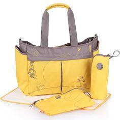 Çeşitli renklerden oluşan bebek bakım çantası
