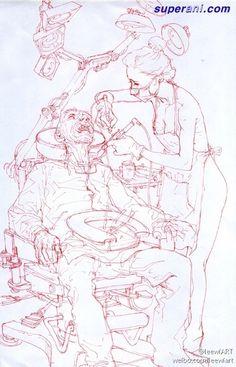 Kim Jung Gi Sketch Manga, Human Sketch, Drawing Sketches, My Drawings, Character Sketches, Character Drawing, Character Design, Figure Drawing, Drawing Reference