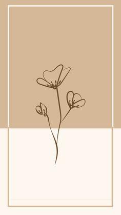 Free Wallpaper - Aesthetic Wallpaper   - Minimal - Floral - Iphone Wallpaper - Free Download - Beige