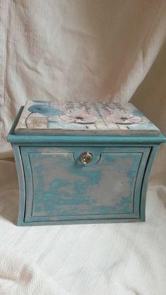 Jewelry Box White Jewelry Holder Cottage Chic Jewelry Storage