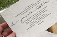 amazing collaboration: calligraphy by @lhcalligrapher and letterpressed stationery by www.http://bespokepress.com.au