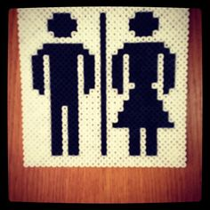 Toilet sign hama perler beads by karinavandborg