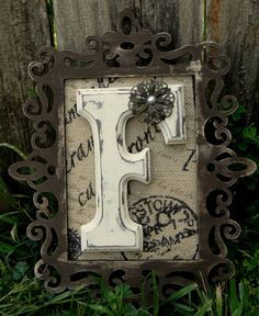Monogram Wall Initial by laceNboots on Etsy, $29.99 - I can easily make this with crafts from Michaels