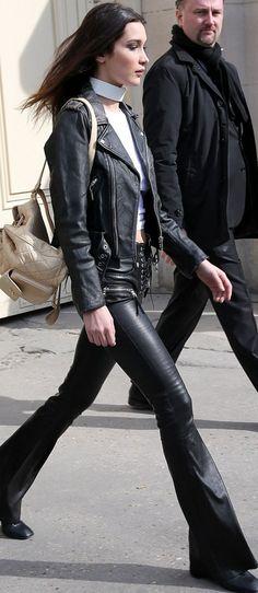 Bella Hadid wearing Chanel, Caravelle NY and .Tessa