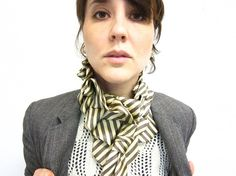 Neck Tie to Ascot Scarf by lilianasterfield [etsy]