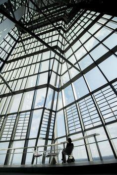 Erster Rundgang durch die EZB im Frankfurter Ostend. Fotos: Salome Roessler