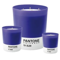 Pretty Pantone Candles - I think I need these.