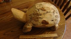 Turtle out of poplar.   sold