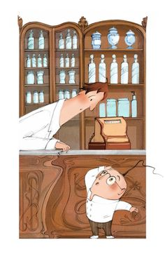 The Norbeck Pharmacy China Cabinet, Pharmacy, Storage, Creative, Kids, Illustrations, Furniture, Design, Home Decor
