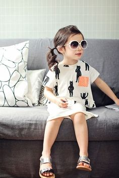 Cute!! I looked like a badly outfitted little boy at this fabulously dressed girl's age. #stylechild