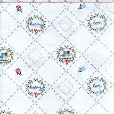 Riley Blake Fabric - Country Birds White via Prissy Craft. Click on the image to see more!