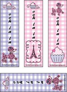 """Paris est à l'honneur dans cette collection """"Pink Poodle"""" : vous trouverez là tout ce qu'il vous faut, pour une fête, pour vos créations, pour un petit mot..."""