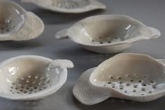 7 August Vicki Grima's new work Ceramic Spoons, Pottery Classes, Pinch Pots, Tea Strainer, August 2013, New Work, Stoneware, Tea Cups, Tableware