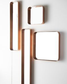 An elegant and versatile mirror with clean modern lines. The curved corners of the design lend a retro industrial chic feel and the deep frame adds an unusual edge. Copper Mirror, Copper Frame, Brass, Quirky Wall Mirrors, Decorative Mirrors, Hallway Mirror, Mirror Art, Mirror Inspiration, Living Room Mirrors