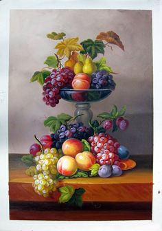 "24"" by 36"" - Still life - Nr.18 - Fruit - Museum Quality Oil Painting on Canvas Art by Artseasy on Etsy"