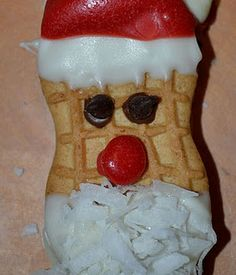 Nutter Butter Santa Cookies - Pinned by @PediaStaff – Please visit http://ht.ly/63sNt for all (hundreds of) our pediatric therapy pins