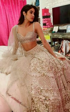 Unique Bridal Lehenga designs that is every Bride's pick in Indian Lehenga, Indian Gowns, Indian Attire, Indian Wear, Indian Bridal Outfits, Indian Designer Outfits, Pakistani Outfits, Designer Dresses, Indian Designers