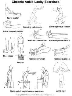 Chronic Ankle Laxity Exercises: Illustration