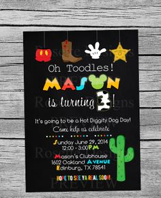 DIGITAL printable WESTERN mickey mouse by RosetteDesigns on Etsy, $10.00 - cowboy mickey mouse