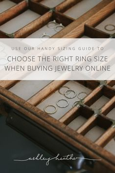 Online shopping open up a whole new world of ethical and environmentally friendly jewelry options but how do you know the right ring size to order? Use our handy guide to work out your ring size.