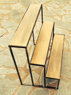 porta-macetas  de hierro a  medida tipo escalera 4 escalones