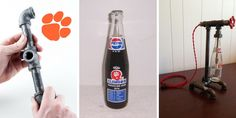 Get your Vintage Bottle Pipe Lamp with Collectible '74 Clemson Tigers Bottle...Made only by American Lampster! For more info, check it out...