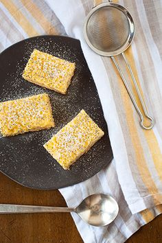 Gluten Free Lemon-Coconut-Poppyseed Bars - Goodness in every sip and spoonful.  Check out more smoothies, snacks and spreads at Motts.com/recipes.