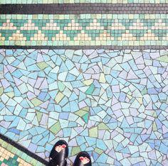 Beautiful tiles by Peckham Lodge, London Retro Furniture, Antique Furniture, Picnic Blanket, Outdoor Blanket, Flooring Tiles, Mid Century Furniture, Floor Rugs, London, Antiques