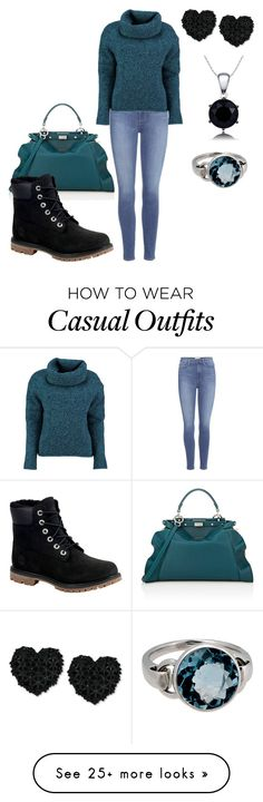 """""""Casual girl"""" by elisa-itgirl on Polyvore featuring Paige Denim, Lowie, Fendi, Timberland, Betsey Johnson and Poiray Paris"""