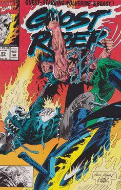 Ghost Rider #29 September, 1992 Andy and Joe Kubert Cover. The Next Wave decide to break off relations with the Penner Security Group, and wind up crossing Ghost Rider, Beast, and Wolverine in the process.