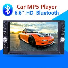 2 Din Car Multimedia Player Bluetooth AUX Stereo Radio FM MP3 MP5 Audio Video USB Charger Electronics autoradio steering-wheel