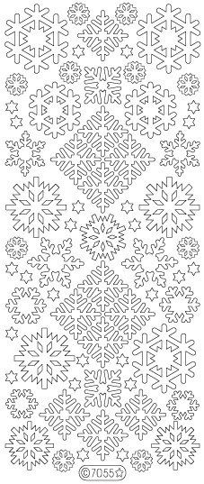 Etsy+の+Starform+Peel-Off+Sticker+Glitter+Snowflakes+by+PNWCrafts