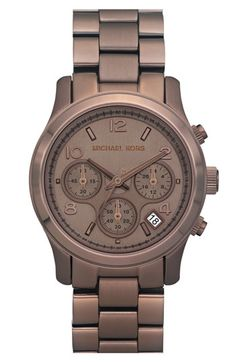 Michael Kors OFF!>> Michael Kors Watch Womens Chronograph Bronze Tone Stainless Steel Bracelet - All Michael Kors Watches - Jewelry Watches - Macys Outlet Michael Kors, Handbags Michael Kors, Michael Kors Watch, Jet Set, Marken Outlet, Mk Watch, Nordstrom, Trend Fashion, Fashion Outfits