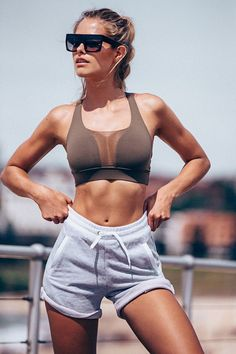 Karrueche Sport Shorts: Women's Bandage Skinny Sports Yoga Running Cropped Pants ♡ Workout Clothes | Yoga Tops | Sports Bra | Yoga Pants | Motivation is here! | Fitness Apparel | Express Workout Clothes for Women | #fitness #express #yogaclothing #exerci