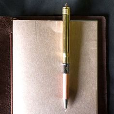 Brass Bullet Ballpoint Pen by Midori from Bookbinders Online