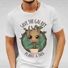 Save The Galaxy Plant a Tree Funny T-Shirt Baby Groot
