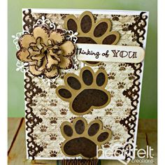 Heartfelt Creations - Paw Prints And Bone Flower Project